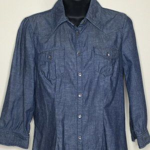 Tommy Hilfiger Chambray Shirt Dress Sz M